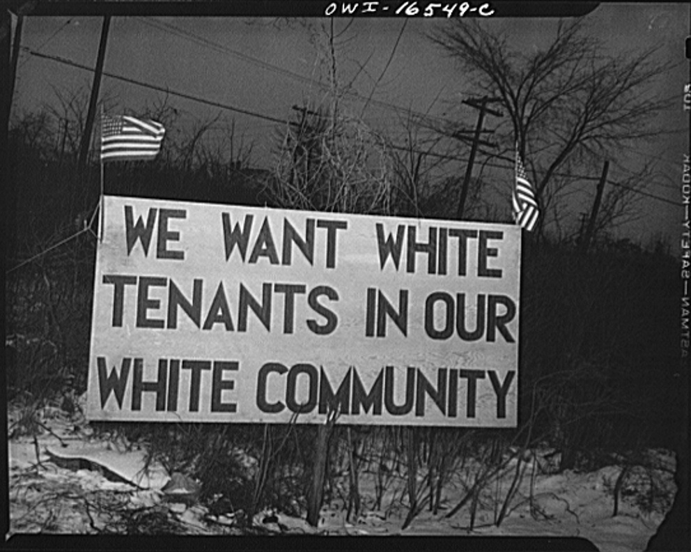 Racial segregation in der Swing Ära